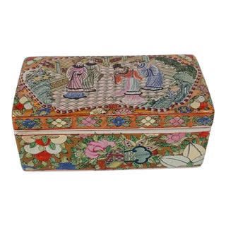 1980s Famille Rose Medallion Box For Sale