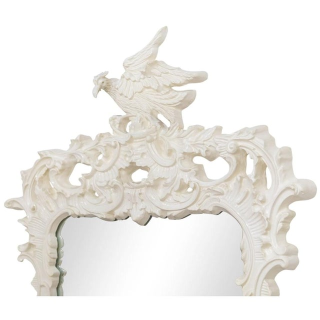 Mid 20th Century Chinese Chippendale Eagle Crest Mirror For Sale - Image 5 of 11