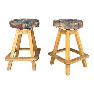Vintage Mid Century Stools- A pair For Sale