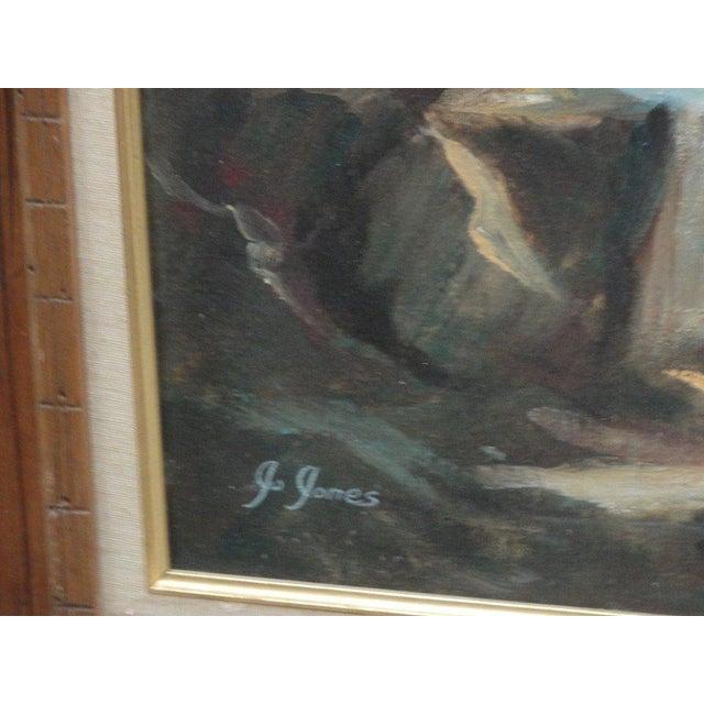 Mid Century Ocean Scene Painting - Image 8 of 10