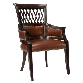 Sarreid Ltd. Exeter Umbria Finish Dining Arm Chair - a Pair For Sale