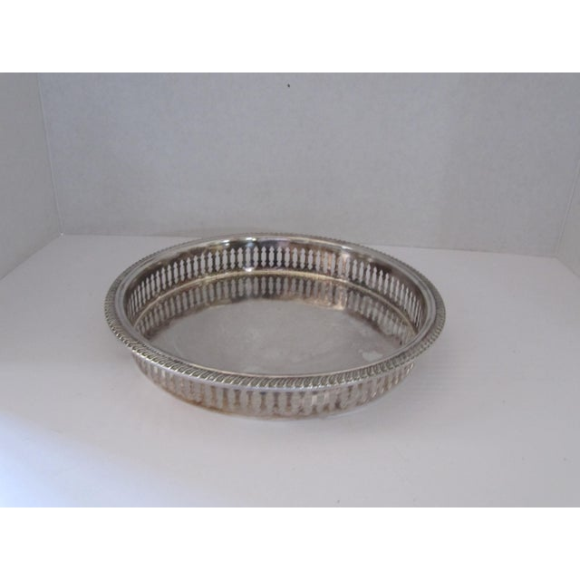 Round Silver-Plate Serving Tray - Image 4 of 4