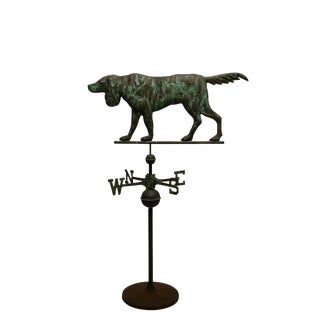 Copper Dog Weathervane, American Late 19th Century For Sale