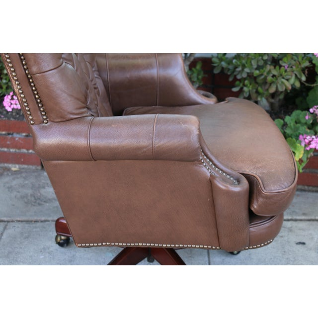 Admirable Bradington Young Executive Leather Chair Short Links Chair Design For Home Short Linksinfo