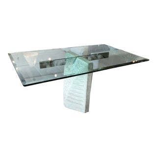Giovanni Offredi Concrete & Glass Dining Table