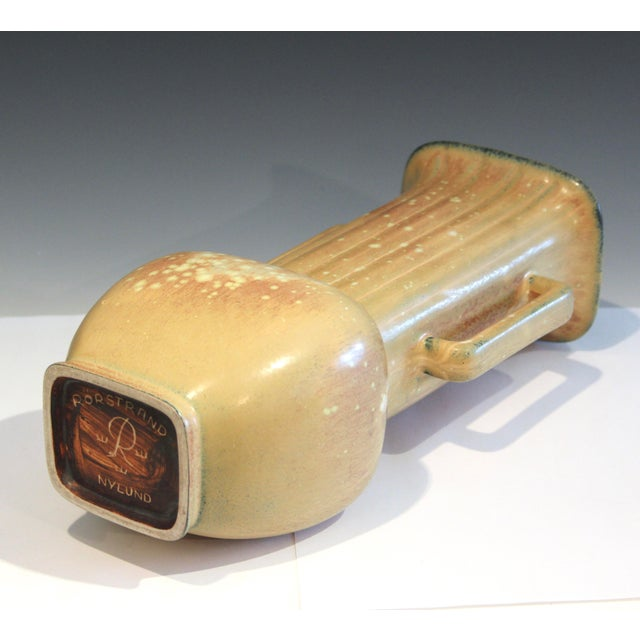 1940s Vintage Rorstrand Nylund Swedish Art Deco Pottery Old Fluted Scandinavian Gunnar For Sale - Image 5 of 10