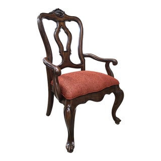 Thomasville Furniture Hills of Tuscany Dark Rustico San Martino Dining Arm Chair For Sale