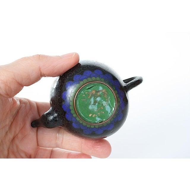 Antique Miniature Japanese Cloisonne Teapot For Sale - Image 4 of 13