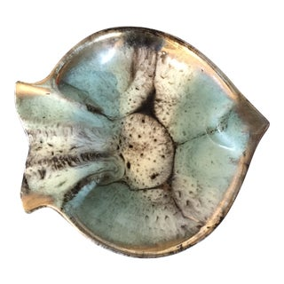 1970s Art Deco German Pottery Angelfish Ashtray For Sale