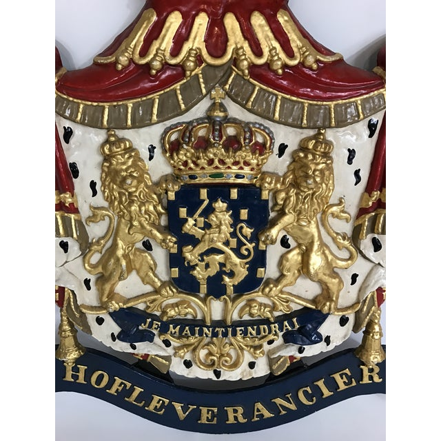 Traditional Dutch Cast Iron Coat of Arms of the Netherlands For Sale - Image 3 of 5
