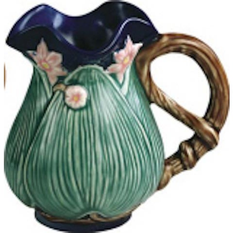 Jay Wilfred for Charles Sadek Inc. Majolica Pitchers - Set of 4 - Image 8 of 11