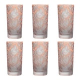 Image of Verdure Highball Glasses Salmon - Set of 6 For Sale