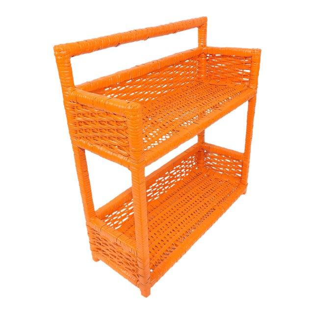 Orange Wicker Wall Shelf - Image 1 of 11