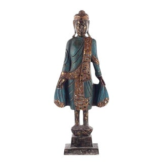 Thai Style Buddha in Blue For Sale