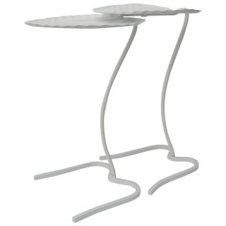 Salterini Lily Pad Nesting Tables in White - a Pair For Sale