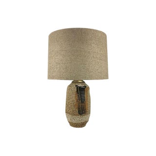 1970s Bohemian Stoneware Table Lamp For Sale