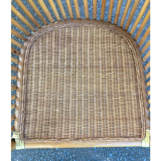 Vintage Rattan Barrel Chair - Image 11 of 11