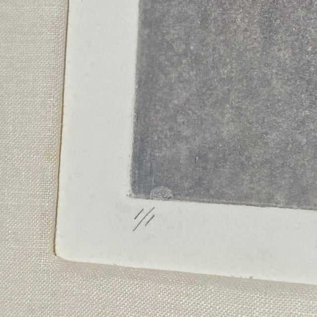"Robert Alan DeVoe ""Striding Moon"" Monoprint C.1987 For Sale - Image 4 of 12"