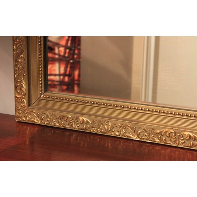 Traditional Gilt Polychrome Wall Mirror For Sale - Image 3 of 4