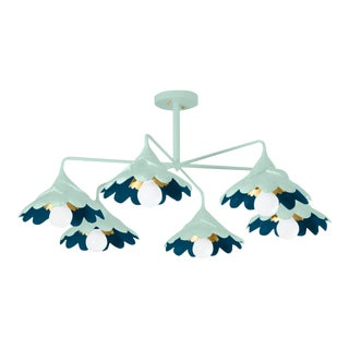 Stray Dog Designs for Chairish John O Ceiling Light, Light Blue and Deep Blue For Sale