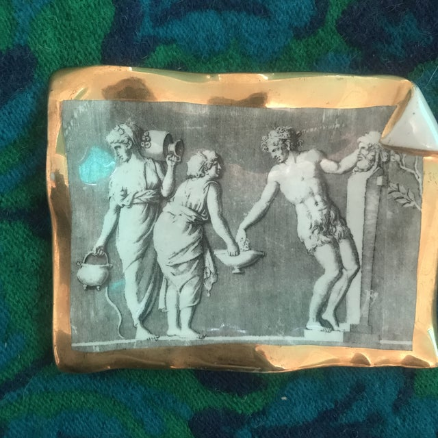 Vintage Fornasetti Milano for Bonwit Teller Tray Dish For Sale - Image 9 of 11