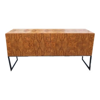 Burlwood Credenza by Milo Baughman For Sale