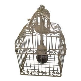 Ivory Single Bulb Birdcage Chandelier