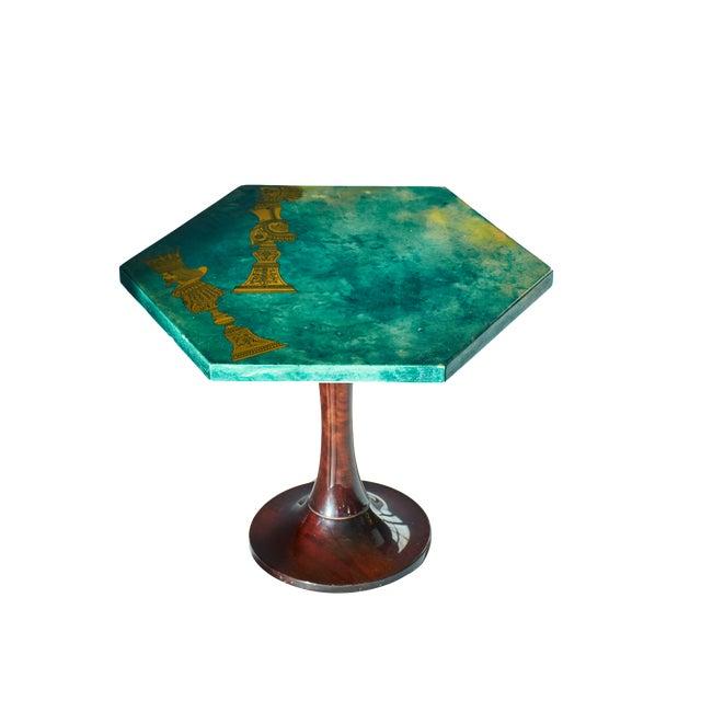 1950's Aldo Tura Hexagonal Side Table For Sale