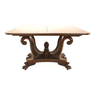 19th Century American Empire Mahogany Flip-Top Console Table For Sale