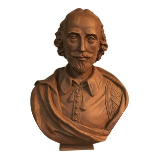 Vintage Chalkware Shakespeare Bust For Sale