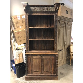 Vintage Handcarved Balinese Wood Shalving Cabinet, Preview