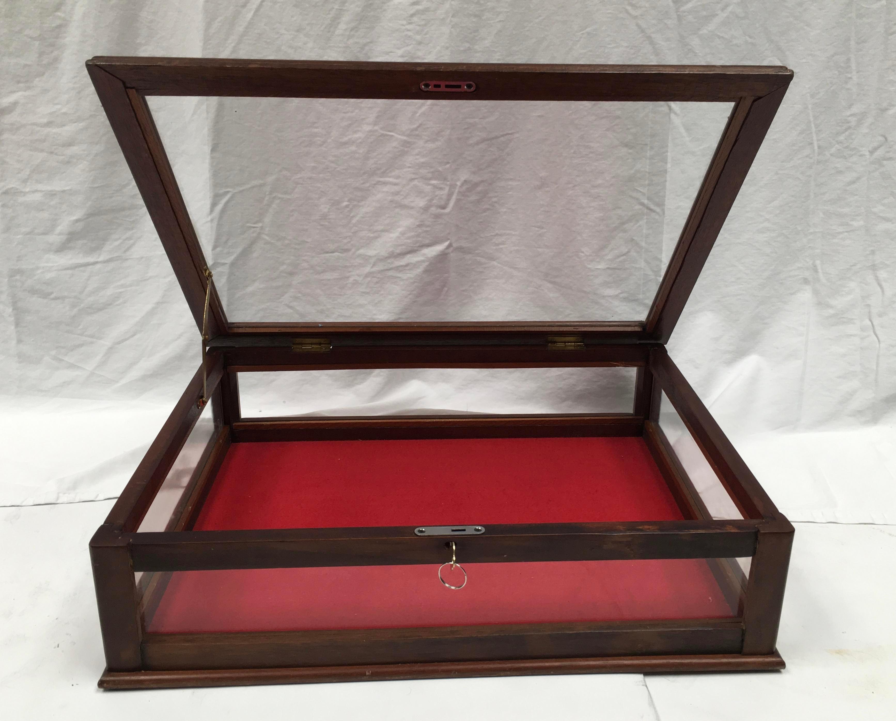 Vintage Mahogany U0026 Glass Tabletop Display Case   Image 4 ...
