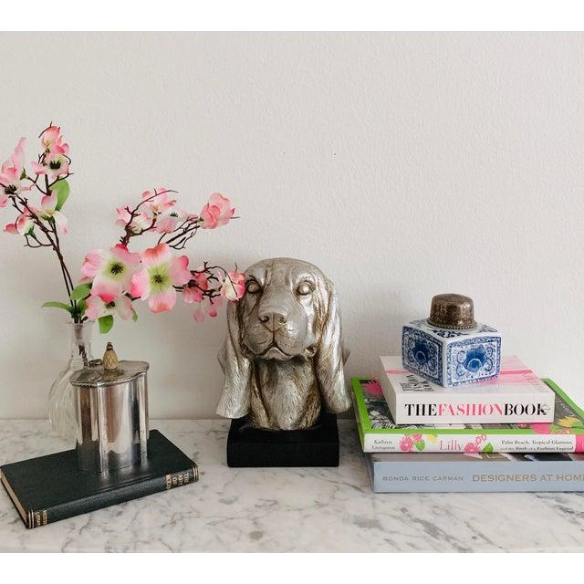 Wood Labrador Golden Retriever Dog Head Figurine Bust For Sale - Image 7 of 9