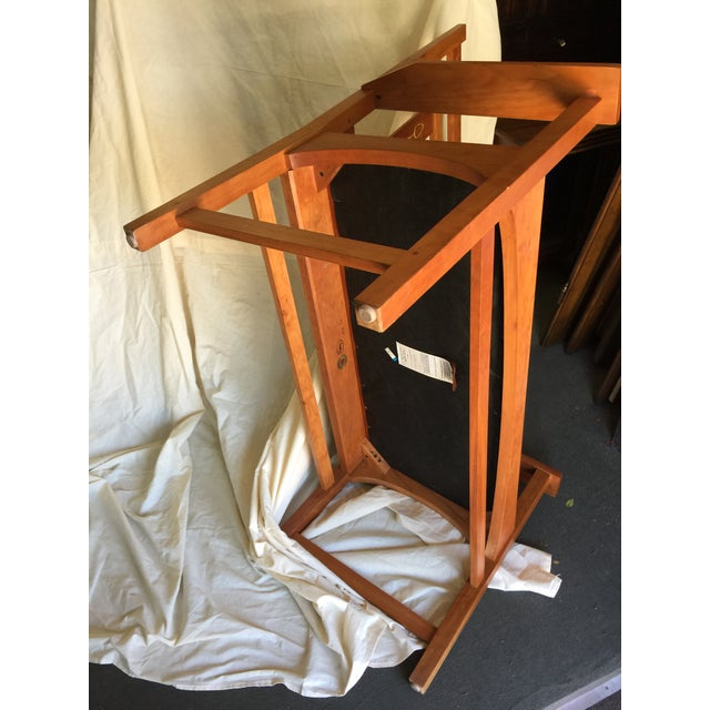 Harvey Ellis Stickley Bench in Cherry For Sale - Image 10 of 10
