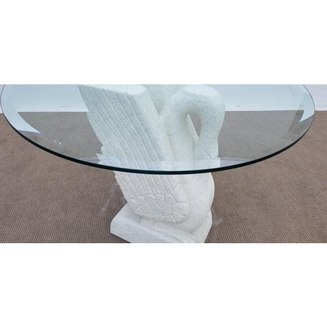 Sculptural Swan Shape Plaster Accent Table For Sale - Image 9 of 12
