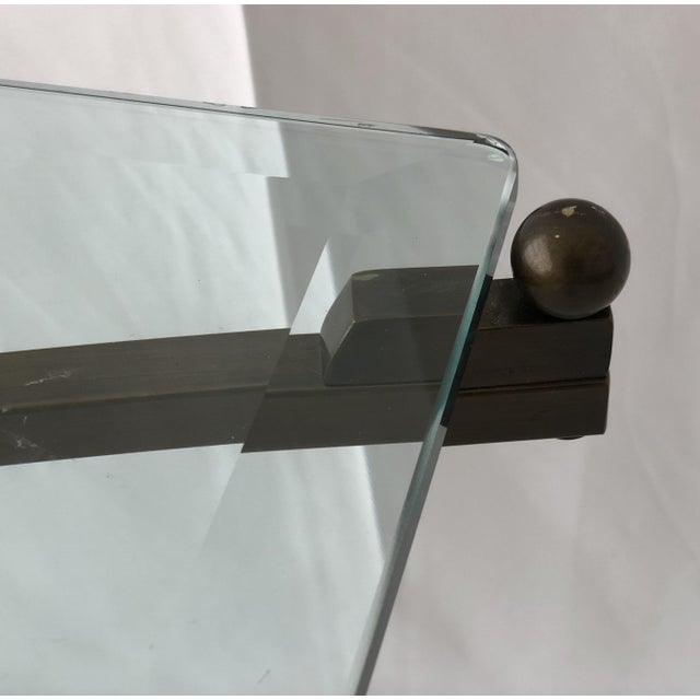 "Swedlow Custom Charles Hollis Jones ""Treillage"" Coffee Table in Brass and Lucite For Sale - Image 4 of 13"