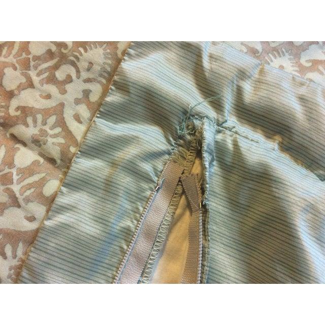Aged Fortuny Fabric Euro Shams - Pair - Image 6 of 6
