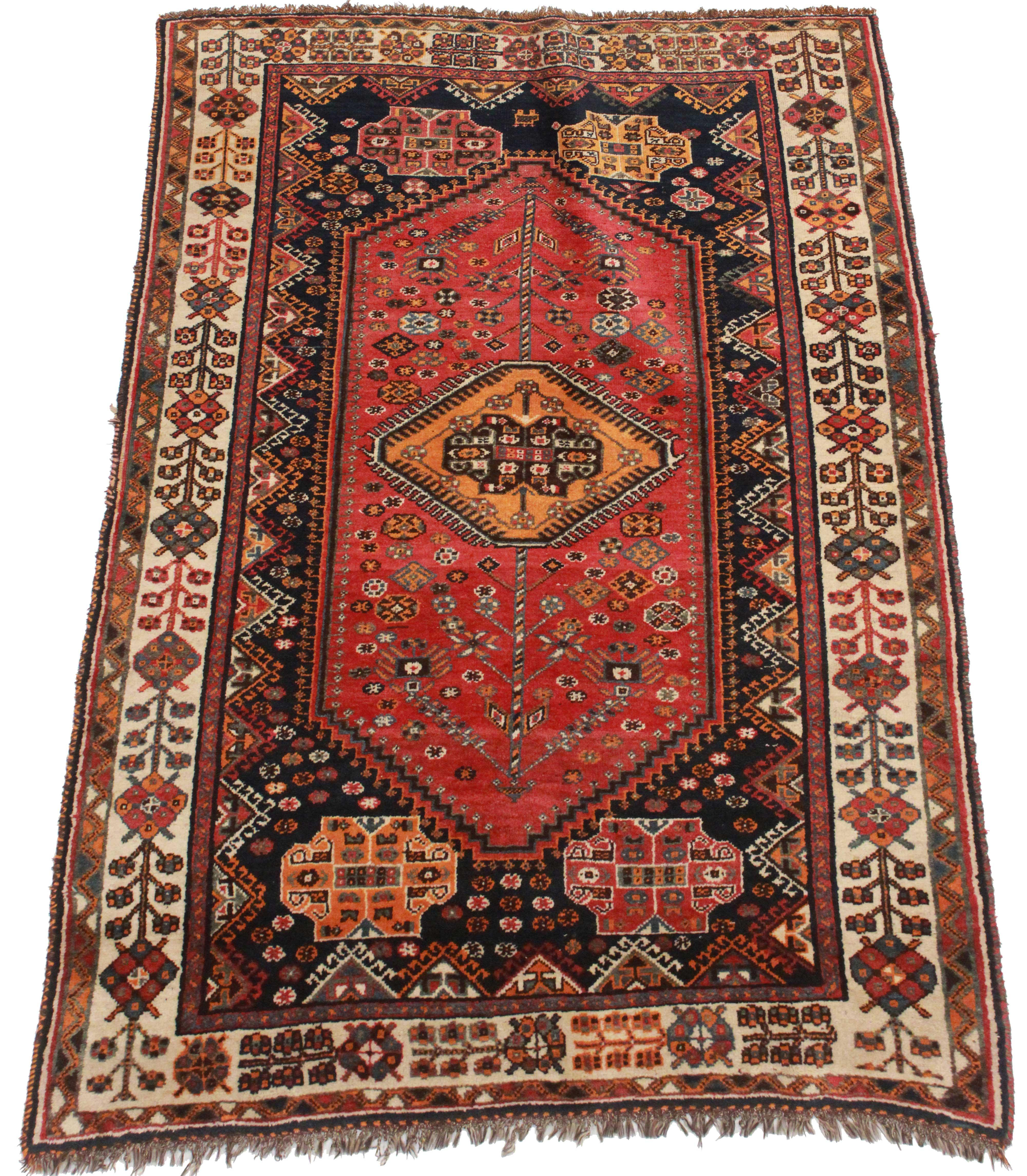 Rugsindallas Persian Shiraz Hand Knotted Wool Rug 4 4 7 3