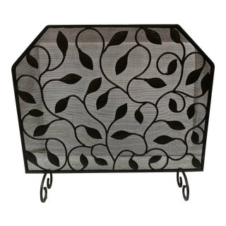 Barboglio Iron Leaf Design Fireplace Screen For Sale