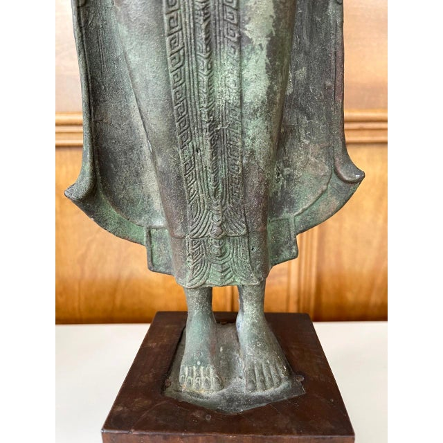 Asian Antique Lopburi Buddha Statue from Thailand For Sale - Image 3 of 13