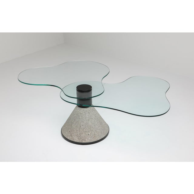 Metal Postmodern Coffee Table in the Manner of Saporiti - 1980s For Sale - Image 7 of 10