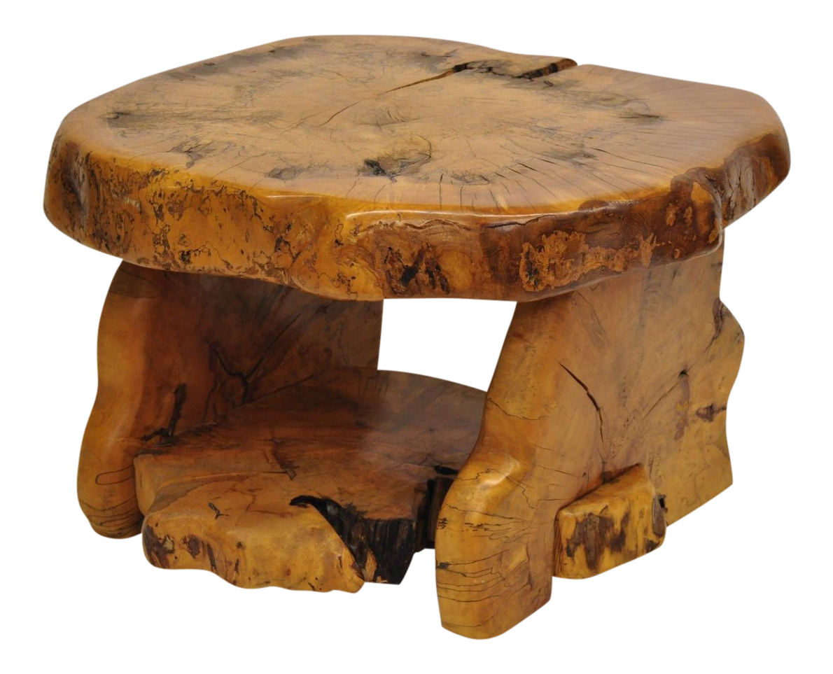 Tree slab coffee table Small Midcentury Modern Live Edge Burl Wood Slab Coffee Table By Fabulous Furniture For Sale Chairish Midcentury Modern Live Edge Burl Wood Slab Coffee Table By Fabulous