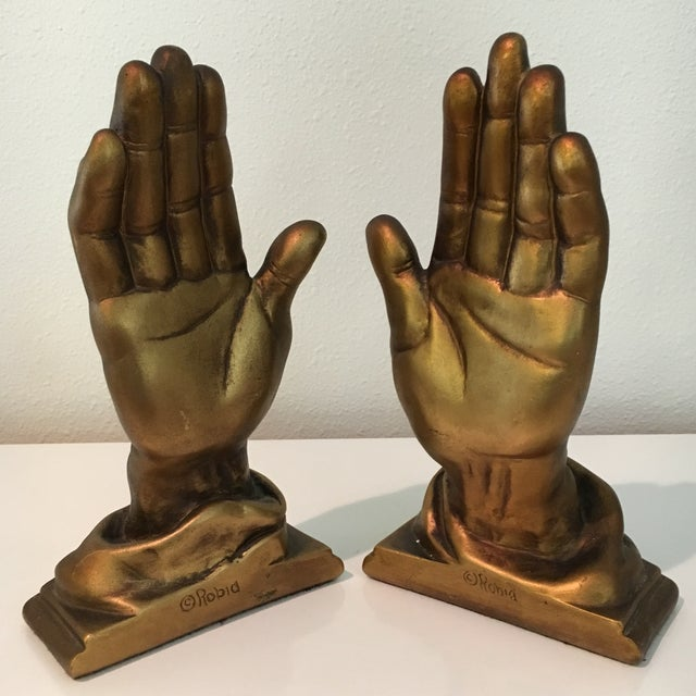 Mid-Century Roman Art Co. Robia Porcelain Hands - A Pair For Sale - Image 9 of 11