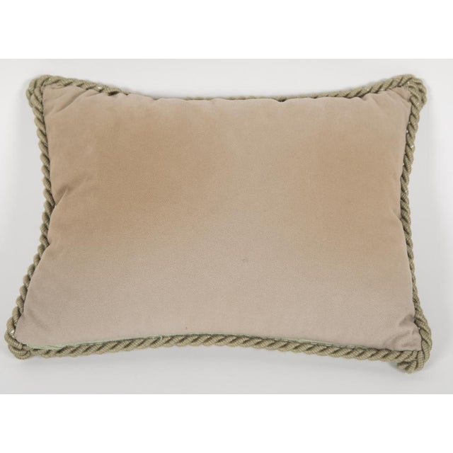 Contemporary Small Fortuny Fabric Pillow For Sale - Image 3 of 5