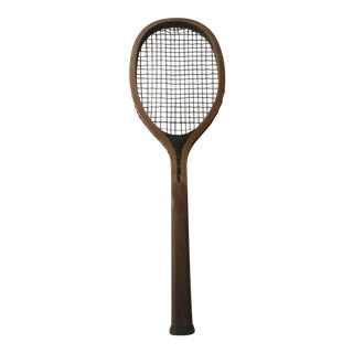 Early 20th Century Antique A. G. Spalding & Bros. Wooden Tennis Racket For Sale