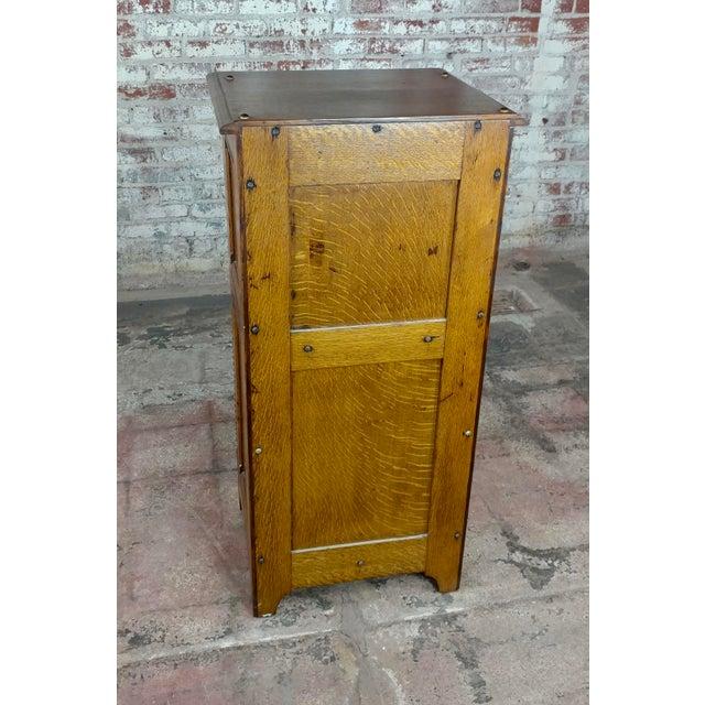 Antique Victorian Oak Cabinet W/Hidden Jewelry Safe -Rare For Sale - Image 10 of 11