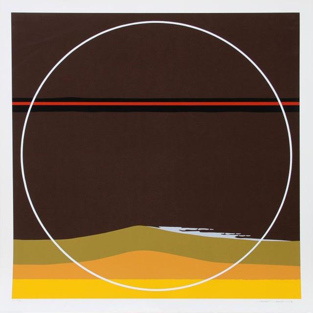 Abstract Yellow Dunes, Silkscreen by Thomas Benton For Sale - Image 3 of 3