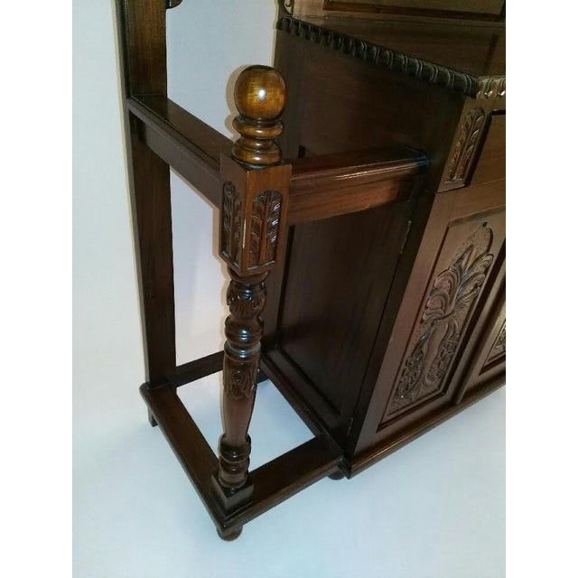 Brown Chippendale Style Hall Tree For Sale - Image 8 of 10