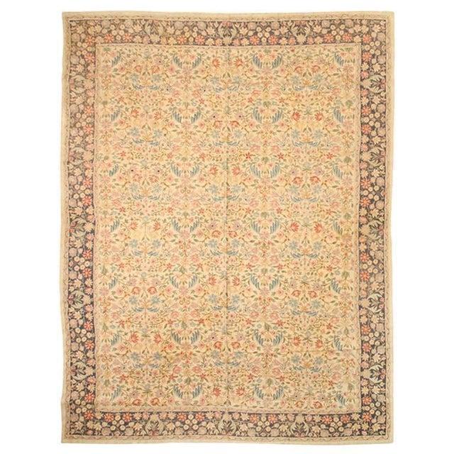 Antique Nundah Indian hand-stitched carpet. Contact dealer. Measures: 12 x 9.