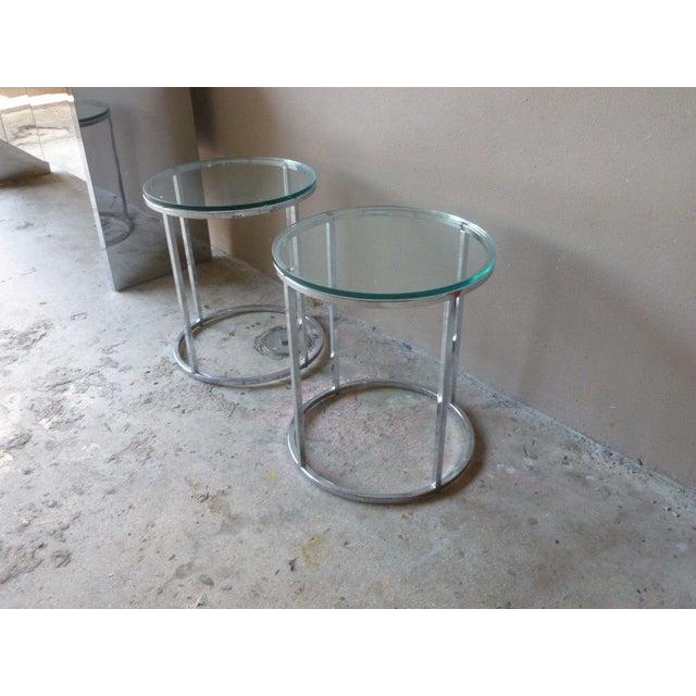 DIA - Design Institute America 1970s Vintage Milo Baughman Chrome Tables - A Pair For Sale - Image 4 of 11
